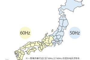 関東と関西の周波数の境界線