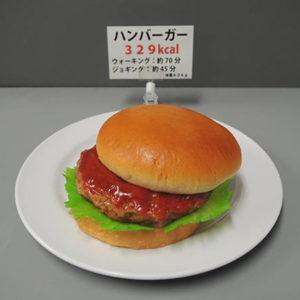 ハンバーガー カロリー サンプル