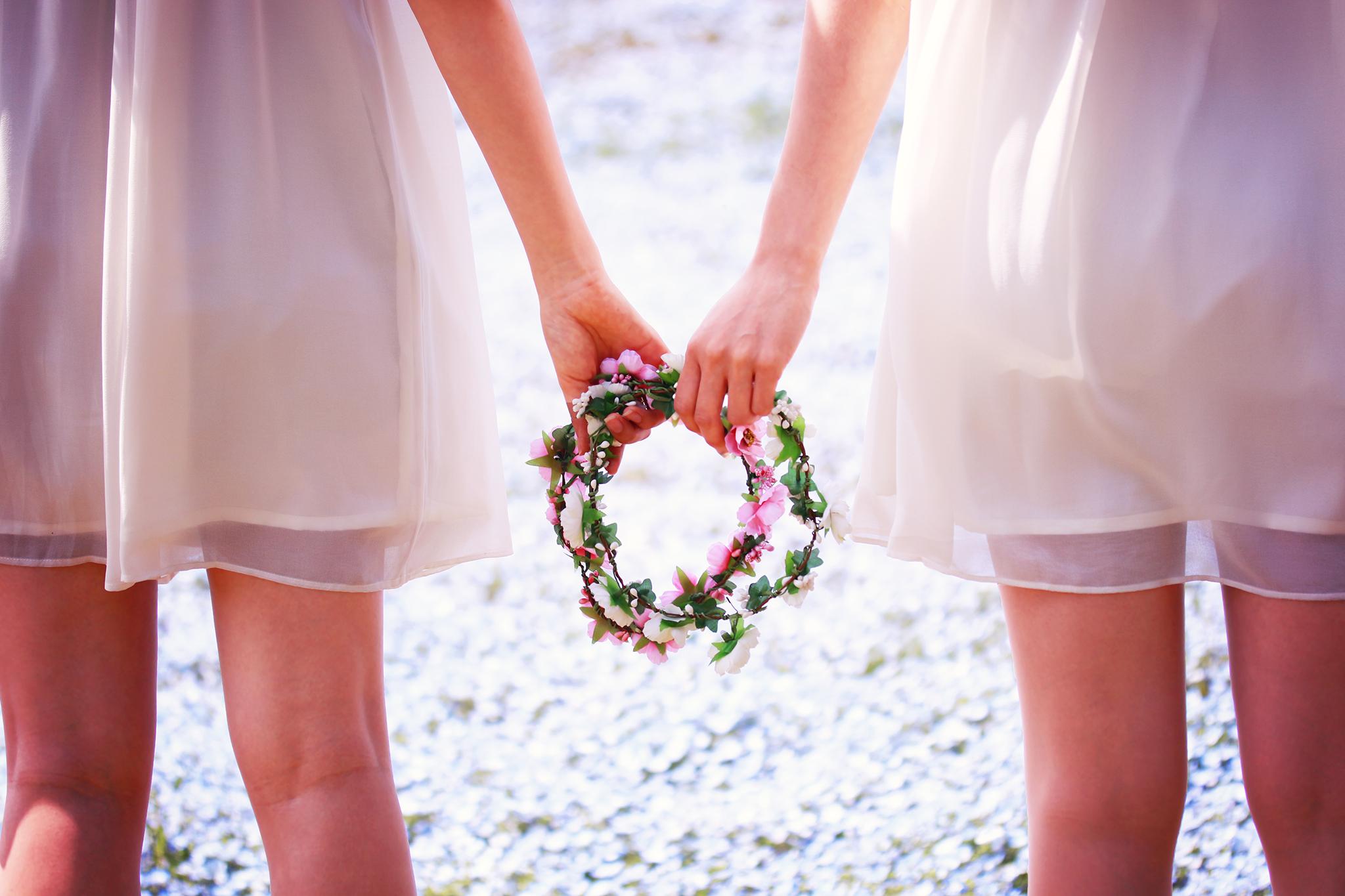 イベント、パーティー、結婚式に重宝する、可愛いヘッドセット、花冠