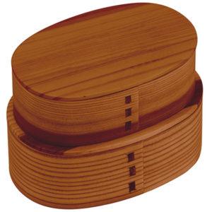 小判型2段式弁当箱