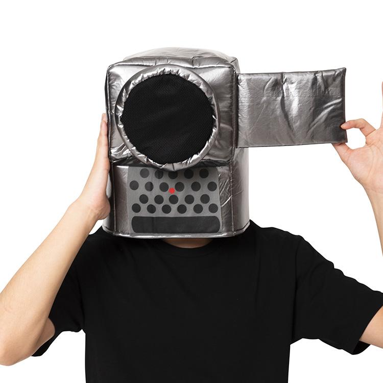 ビデオカメラの被り物