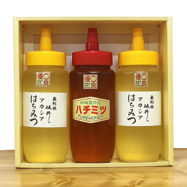 特選アカシア・百花蜂蜜 500g 3本セット ギフトボックス付