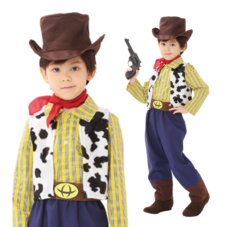 男の子向けの可愛いカーボーイの衣装
