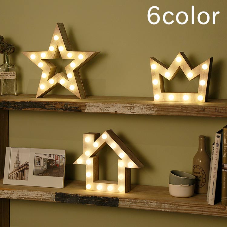 WOODEN MARQUEE LIGHT